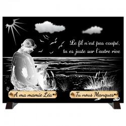 """Plaque Funéraire monochrome """"Bord de Mer"""""""