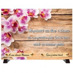 """Plaque Funéraire """"Orchidées"""""""