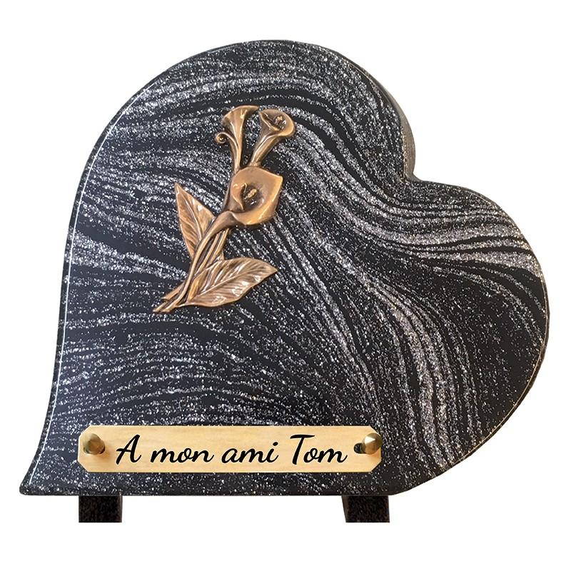 "Plaque Funéraire Coeur ""Arum"""