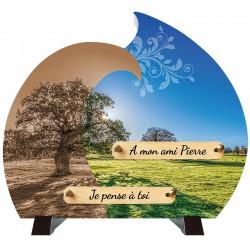 Plaque Funéraire moderne Composite Campagne sur pieds