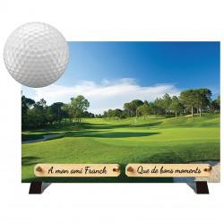 Plaque Funéraire moderne Composite sur pieds Golf - Golfeur