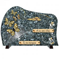 Plaque funéraire de prestige Papillons