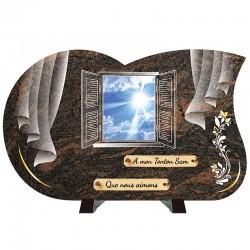 Plaque funéraire de prestige Fenêtre - Ciel