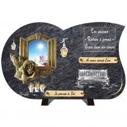 Plaque funéraire de prestige Bronze Fleur