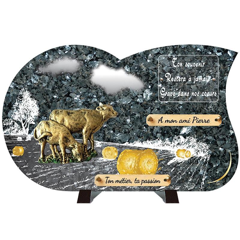 Plaque funéraire de prestige Bronze Campagne