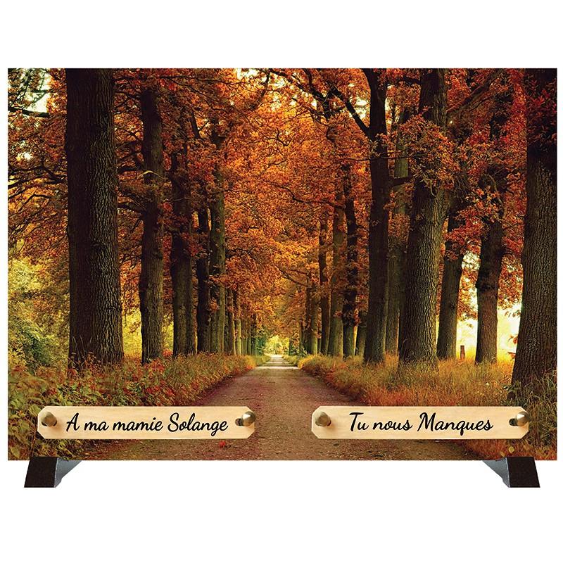 """Plaque Funéraire """"Forêt d'Automne"""""""