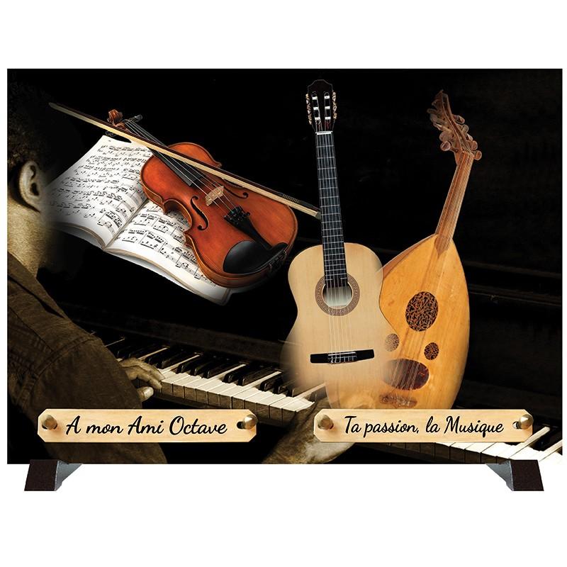 """Plaque Funéraire """"Musique Musicien"""""""