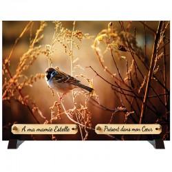 """Plaque Funéraire """"Nature - oiseau"""""""
