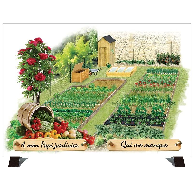"""Plaque Funéraire """"Jardin potager"""""""