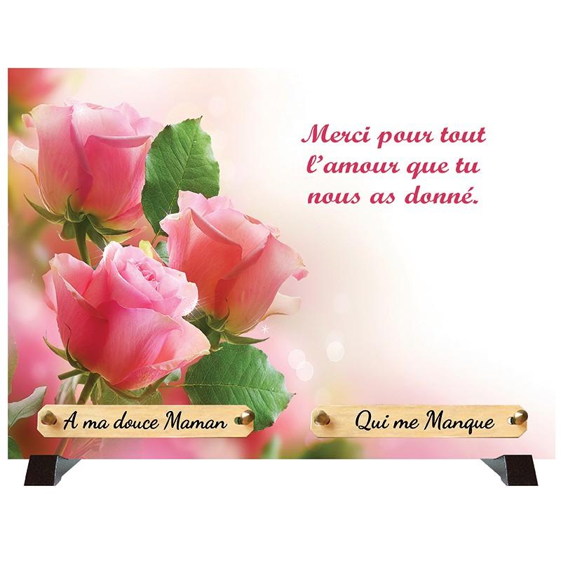 """Plaque Funéraire """"Romantisme"""""""