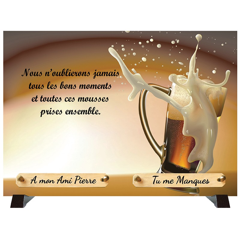 """Plaque Funéraire """"Amitié"""""""