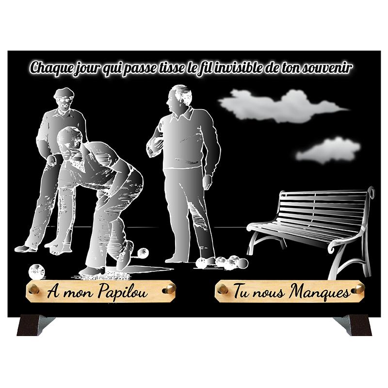 Plaques funéraires Monochrome SAINT-OUEN-SUR-MORIN 77 - PLAQUE FUNÉRAIRE PERSONNALISÉE SAINT-OUEN-SUR-MORIN 77