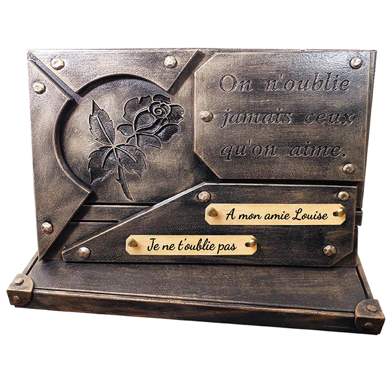 Plaques funéraires contemporaines SAINT-OUEN-SUR-MORIN 77 - PLAQUE FUNÉRAIRE PERSONNALISÉE SAINT-OUEN-SUR-MORIN 77