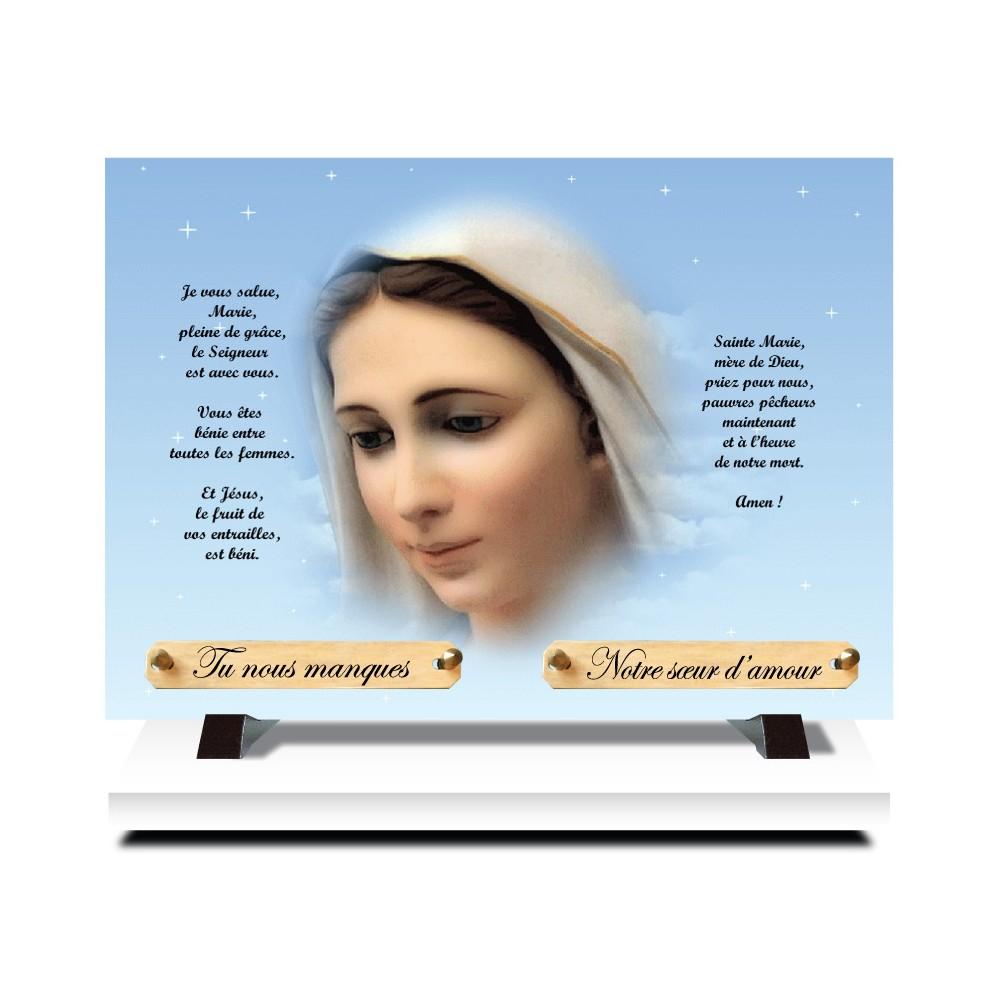 Plaque funéraire thème Religions
